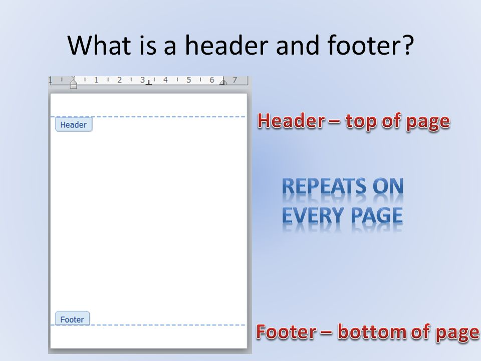 What is a header and footer