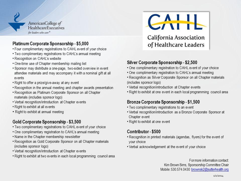 Platinum Corporate Sponsorship - $5,000