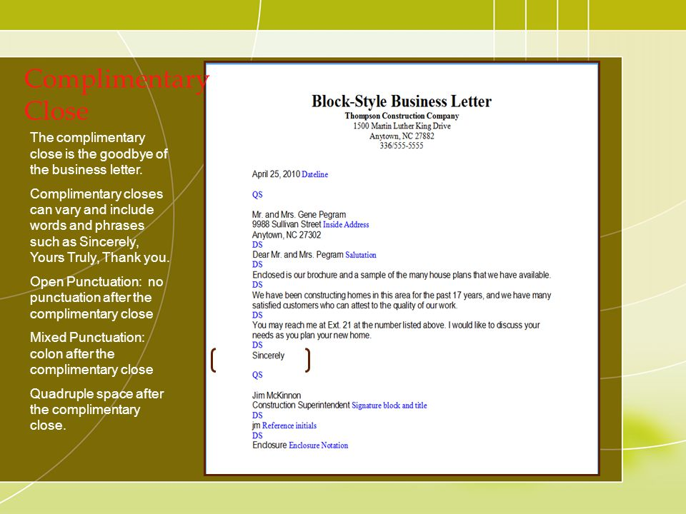 Components of Business Letters ppt download