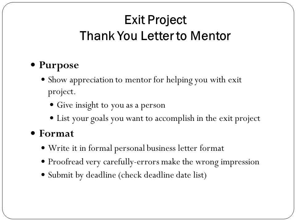 Business Correspondence ppt download – Thank You Letter to Mentor