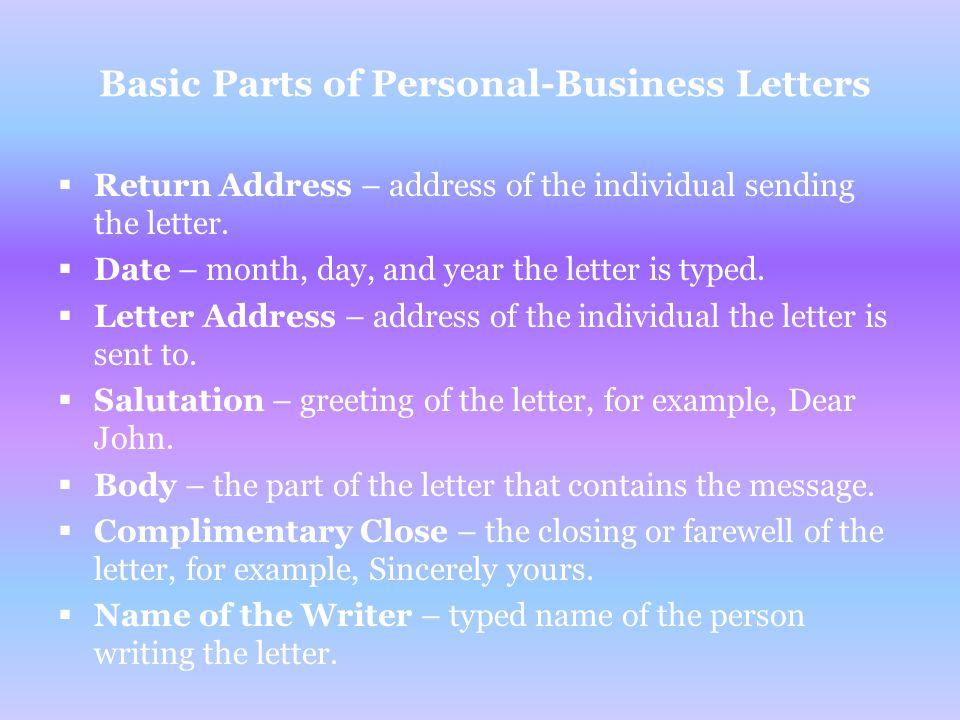 Caroline Bush Personal Business Letter Storyboard ppt download