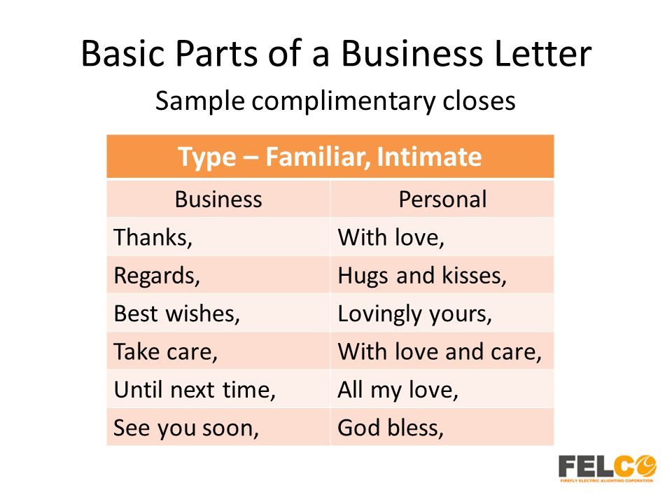 Lesson 2 business letters parts and formats ppt download basic parts of a business letter expocarfo