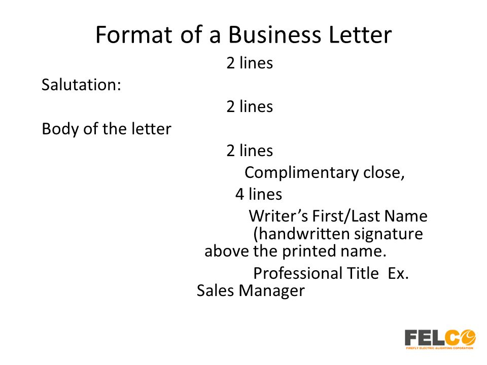 Lesson 2: Business Letters: Parts And Formats - Ppt Download