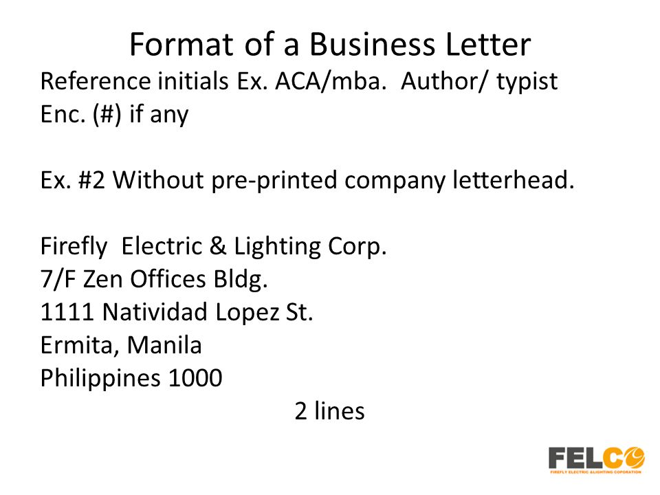 Letter Format To An Author. 48 Format  Lesson 2 Business Letters Parts and Formats ppt download