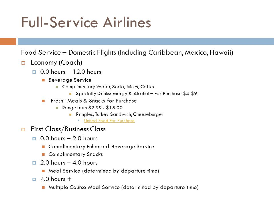 Full-Service Airlines
