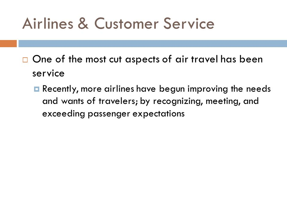 Airlines & Customer Service
