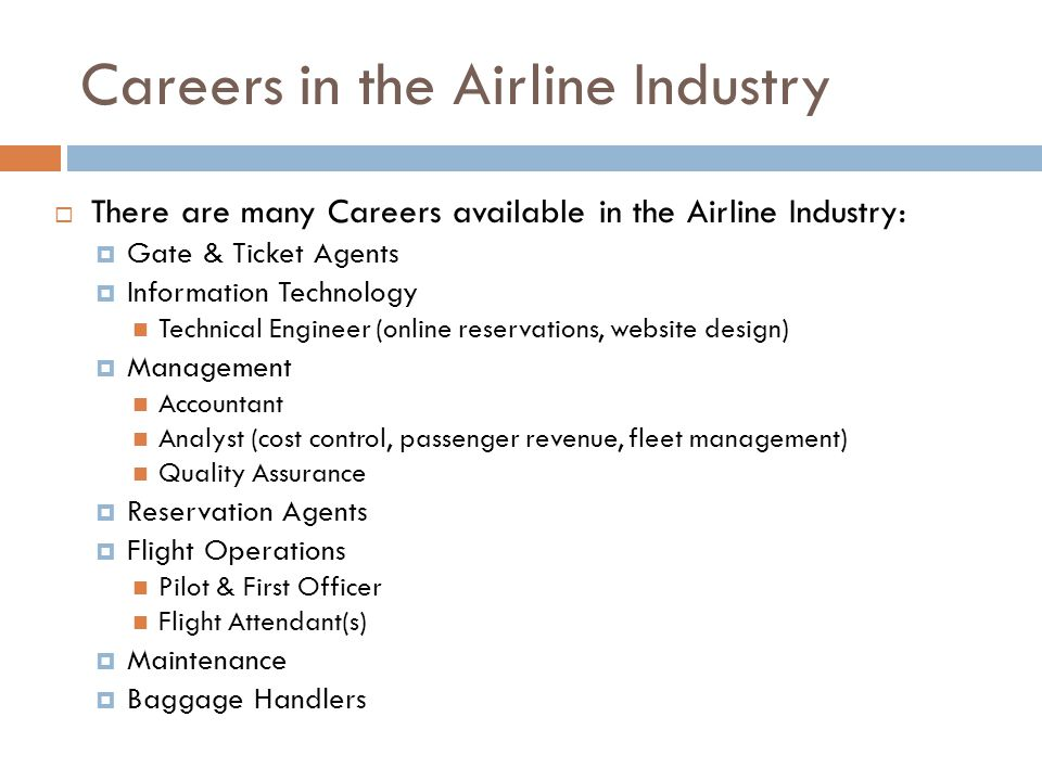 Careers in the Airline Industry