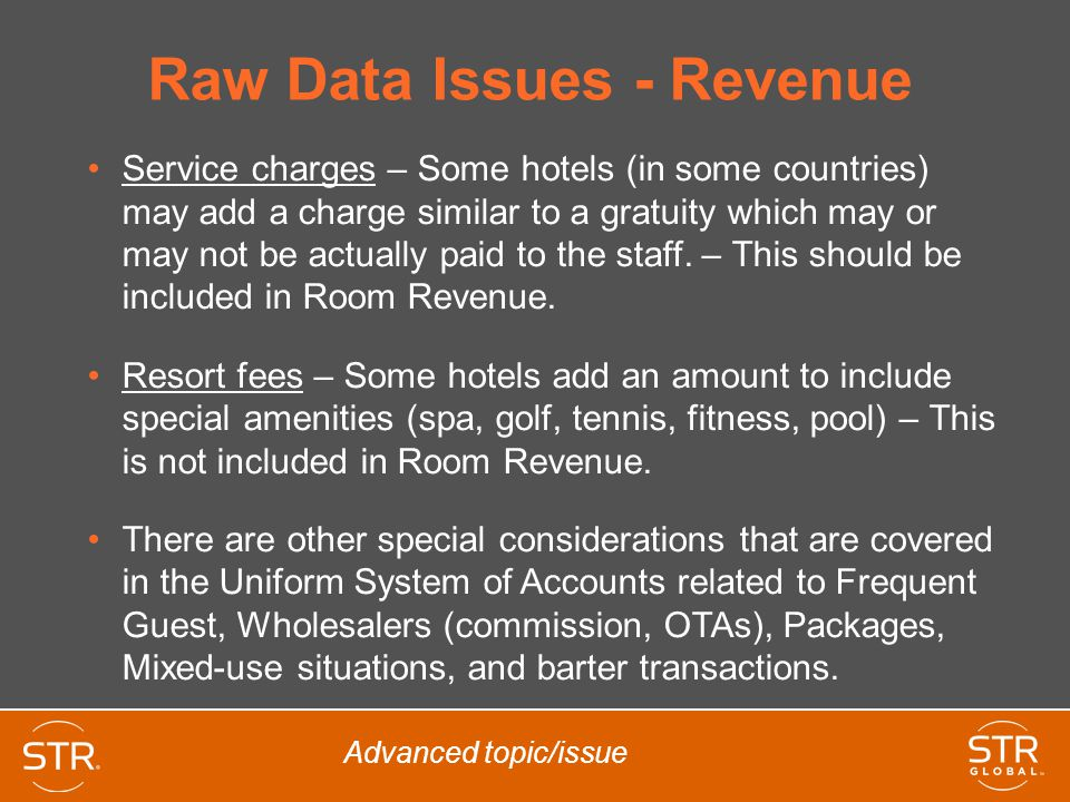 Raw Data Issues - Revenue