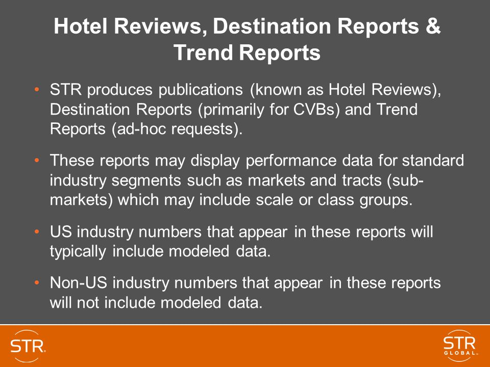 Hotel Reviews, Destination Reports & Trend Reports