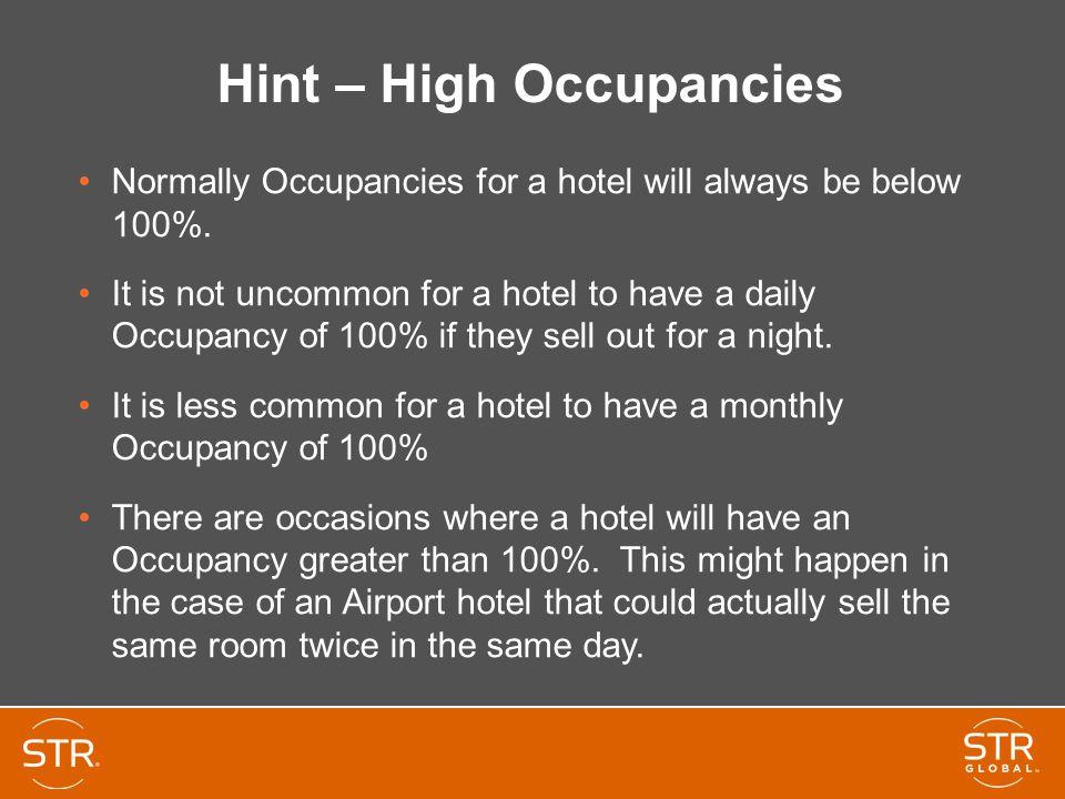Hint – High Occupancies