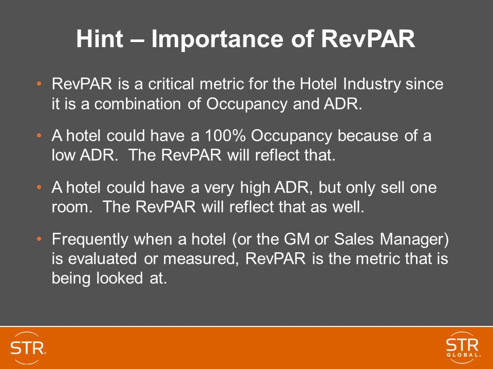 Hint – Importance of RevPAR