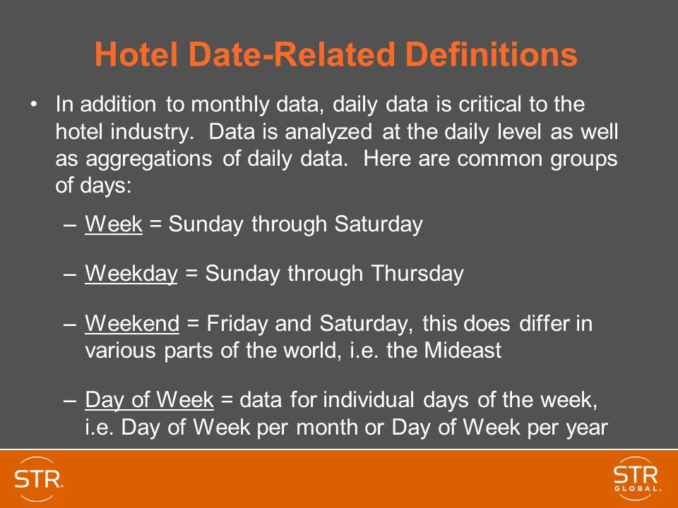 Hotel Date-Related Definitions