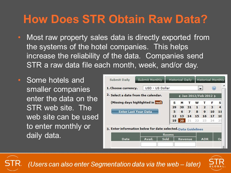 How Does STR Obtain Raw Data