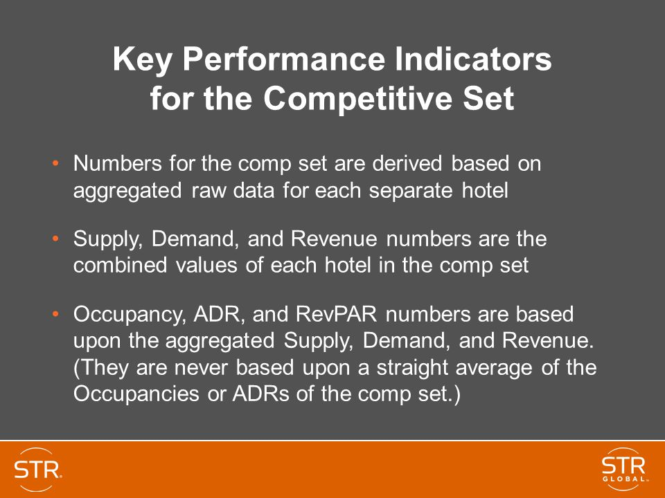 Key Performance Indicators for the Competitive Set