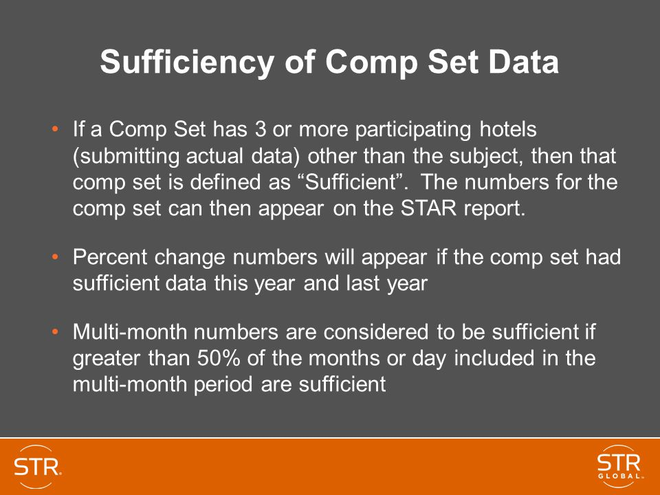 Sufficiency of Comp Set Data