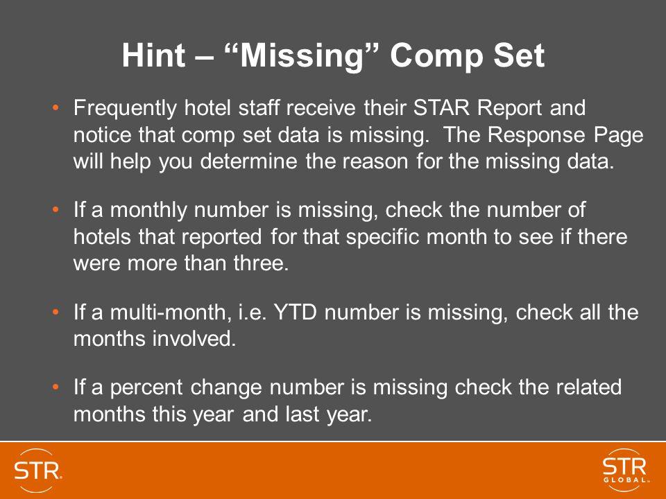 Hint – Missing Comp Set
