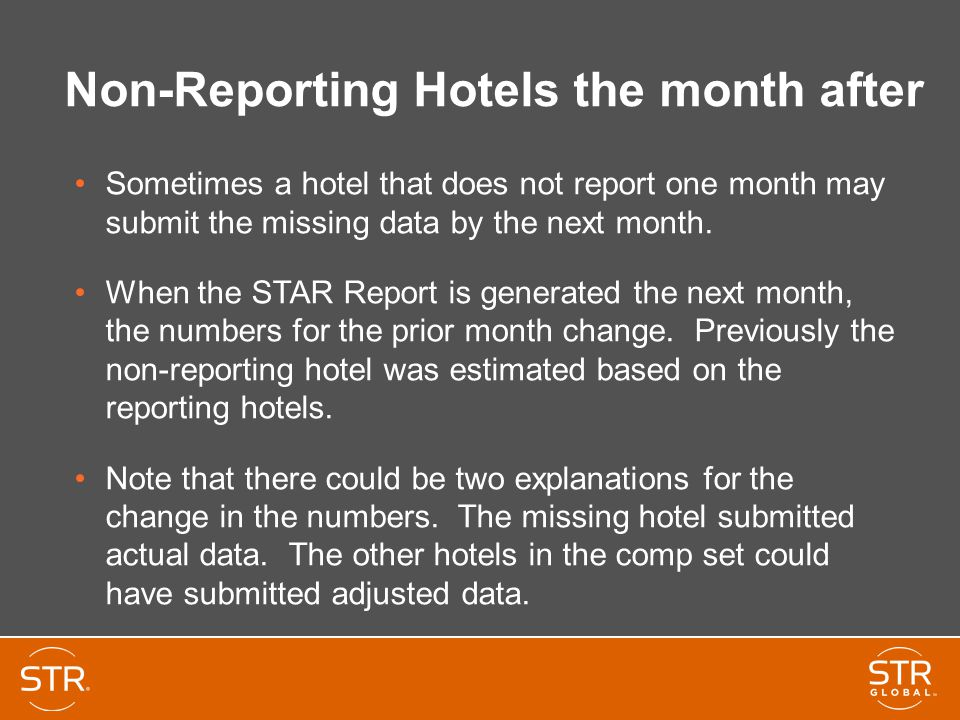 Non-Reporting Hotels the month after