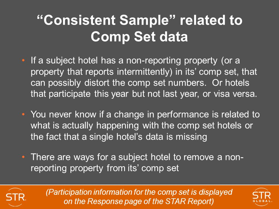 Consistent Sample related to Comp Set data