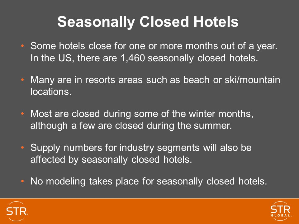 Seasonally Closed Hotels