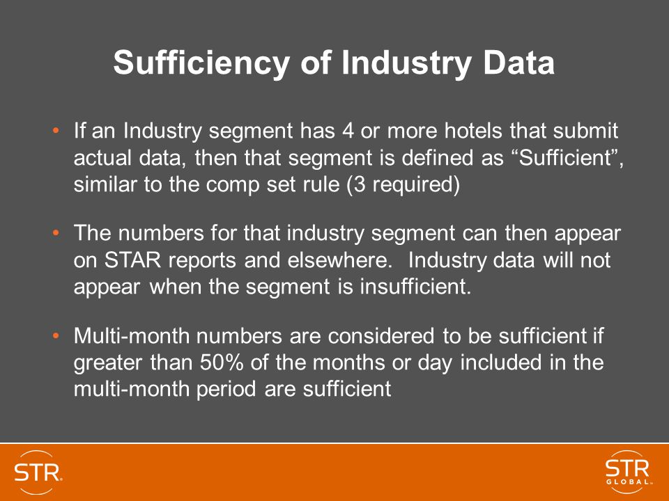 Sufficiency of Industry Data