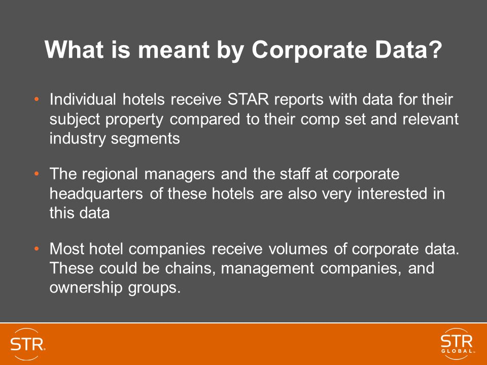 What is meant by Corporate Data