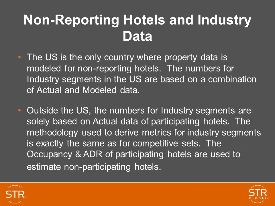Non-Reporting Hotels and Industry Data