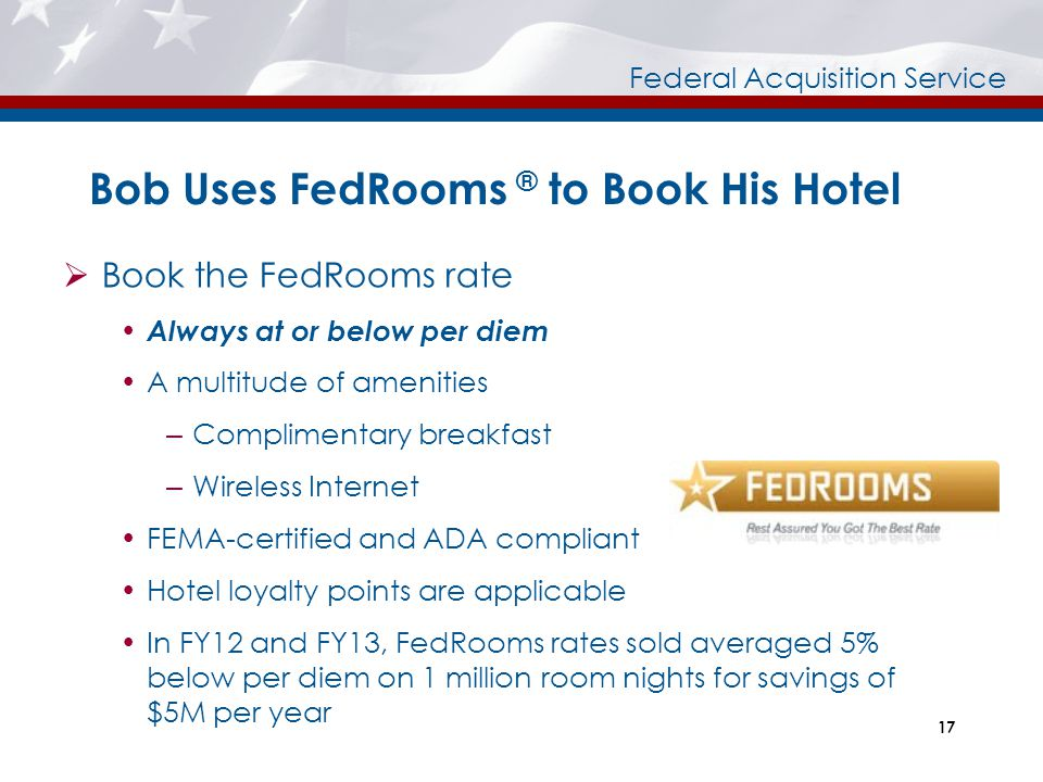 Bob Uses FedRooms ® to Book His Hotel