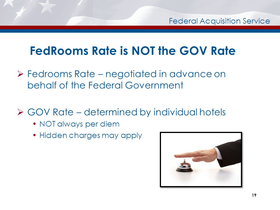 FedRooms Rate is NOT the GOV Rate
