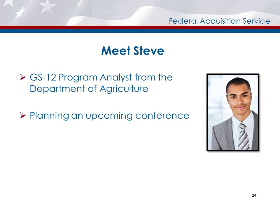 Meet Steve GS-12 Program Analyst from the Department of Agriculture