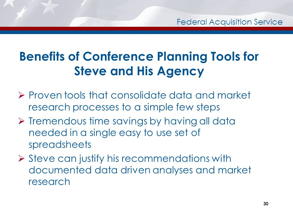 Benefits of Conference Planning Tools for Steve and His Agency