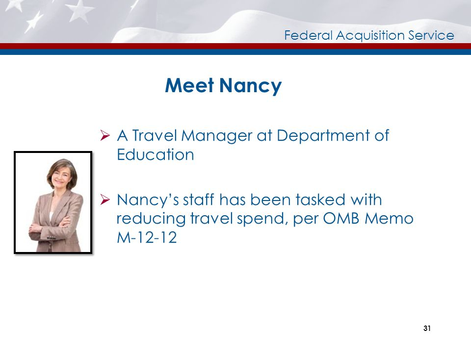 Meet Nancy A Travel Manager at Department of Education