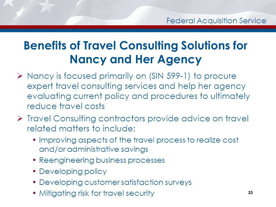Benefits of Travel Consulting Solutions for Nancy and Her Agency