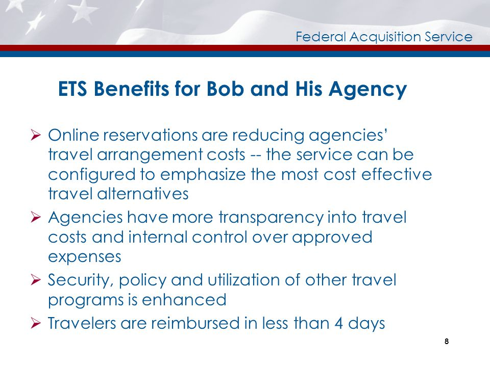 ETS Benefits for Bob and His Agency