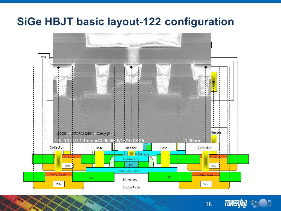 SiGe HBJT basic layout-122 configuration