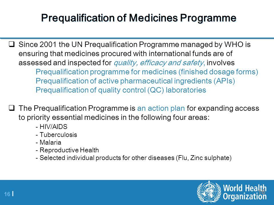 Prequalification of Medicines Programme