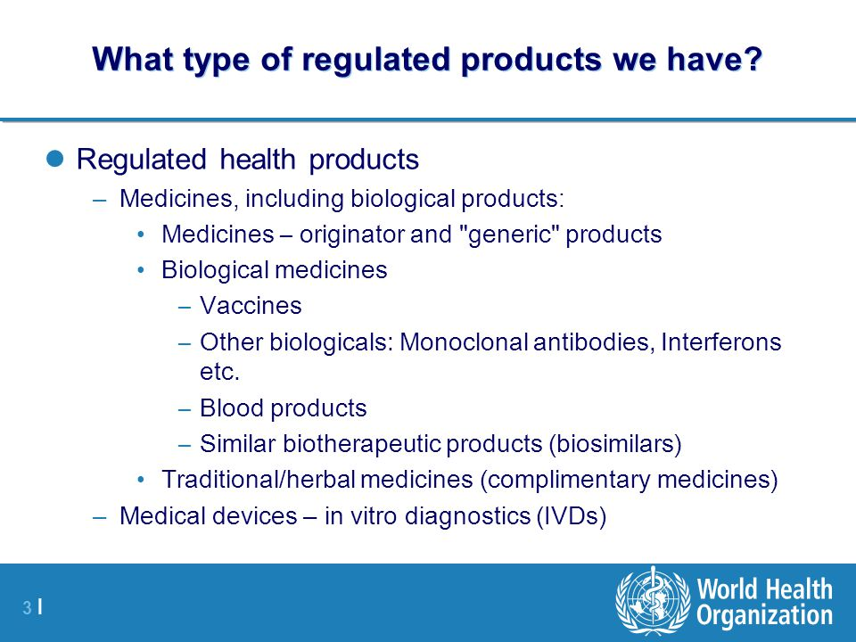 What type of regulated products we have
