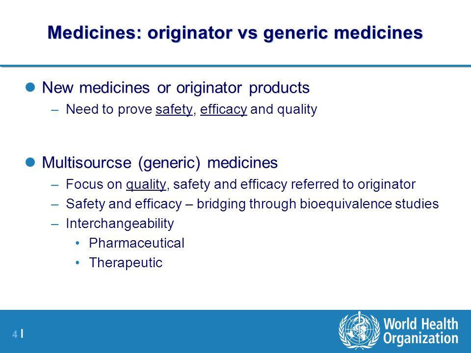 Medicines: originator vs generic medicines