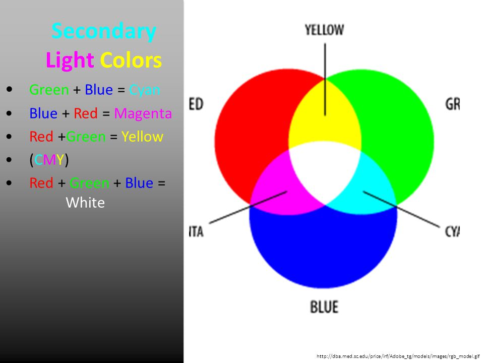 Secondary Light Colors