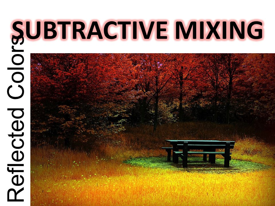 SUBTRACTIVE MIXING Reflected Colors