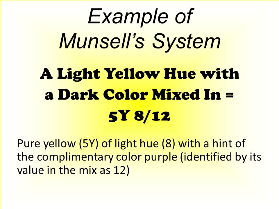 Example of Munsell's System