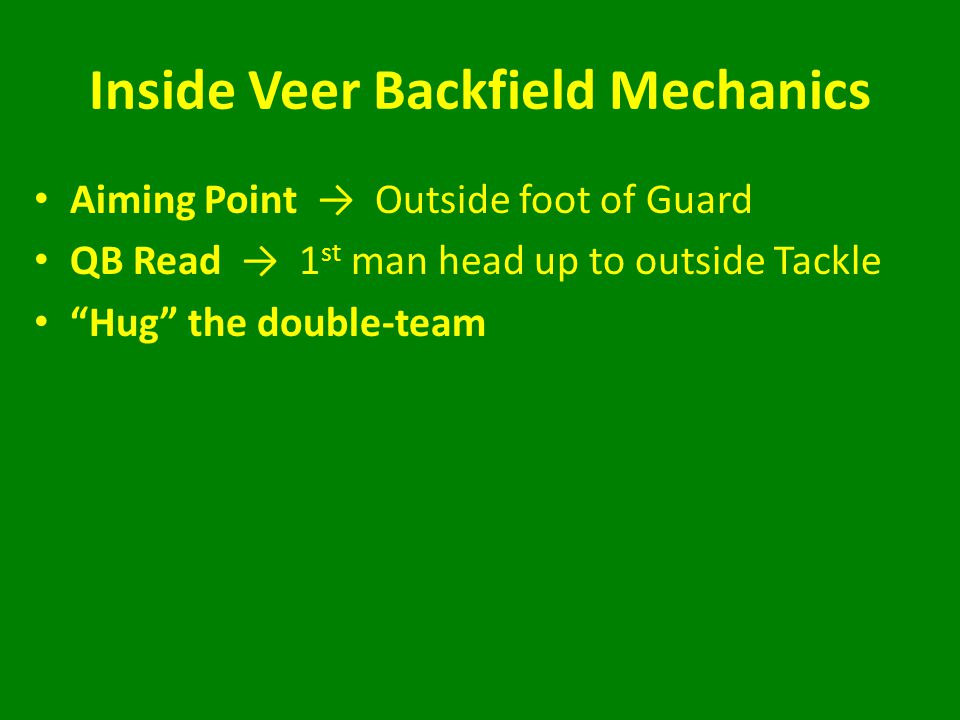 Inside Veer Backfield Mechanics