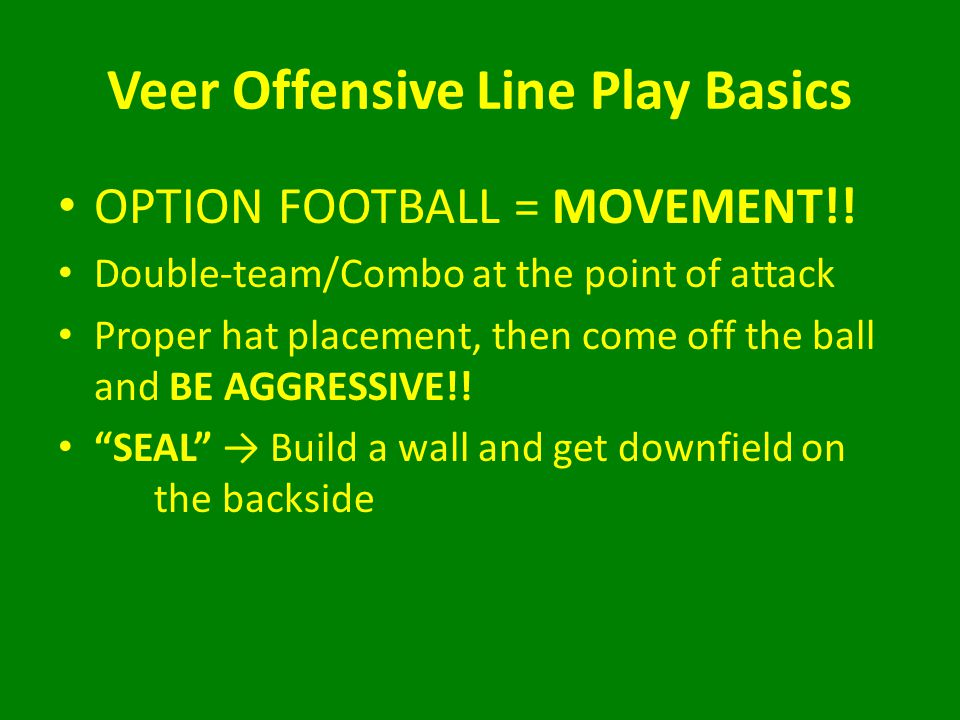 Veer Offensive Line Play Basics