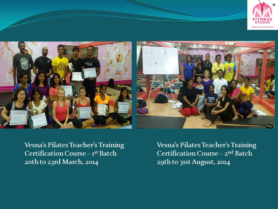 Vesna's Pilates Teacher's Training