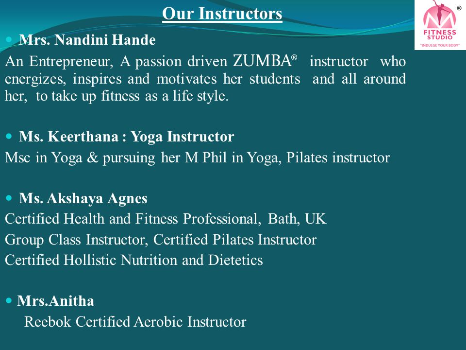 Our Instructors Mrs. Nandini Hande