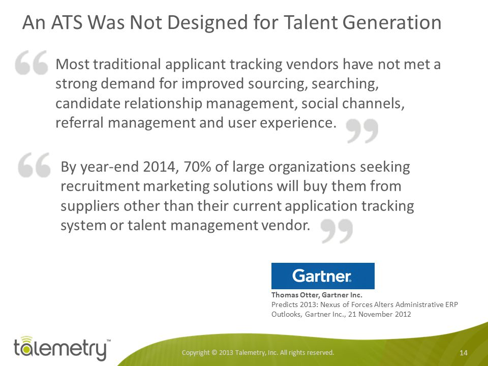 An ATS Was Not Designed for Talent Generation