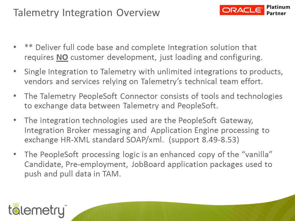 Talemetry Integration Overview