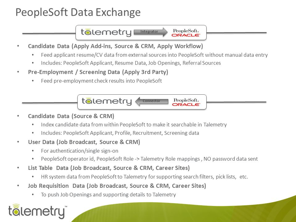 PeopleSoft Data Exchange