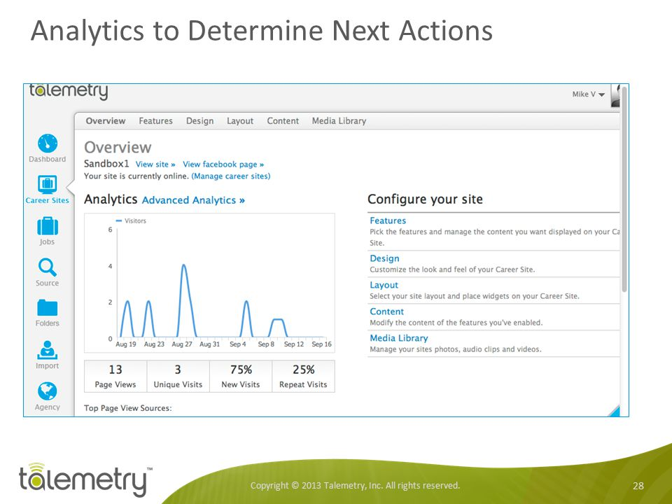 Analytics to Determine Next Actions