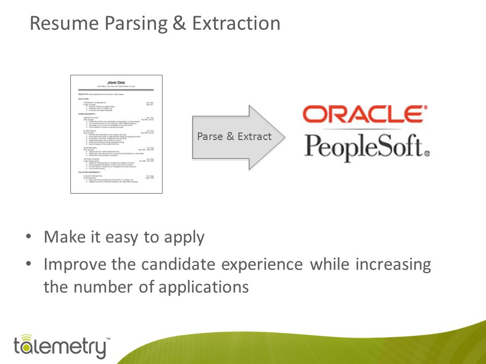 Resume Parsing & Extraction