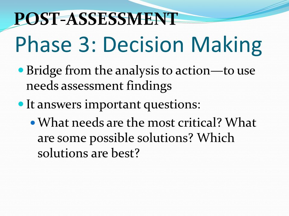 Phase 3: Decision Making
